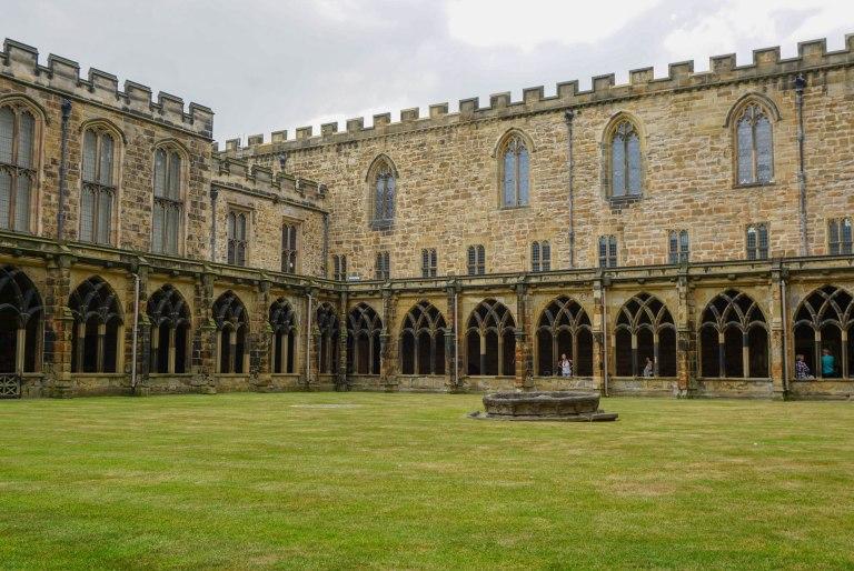 Durham castle garden, film location for hogwarts
