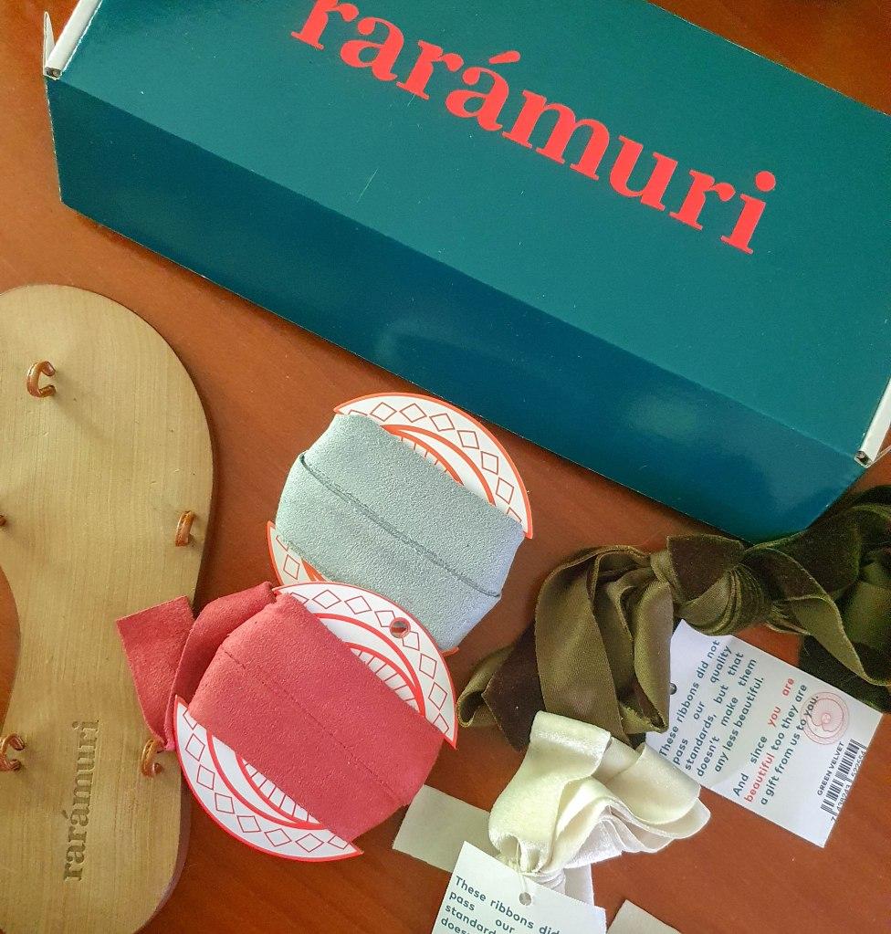raramuri sandals with ribbons
