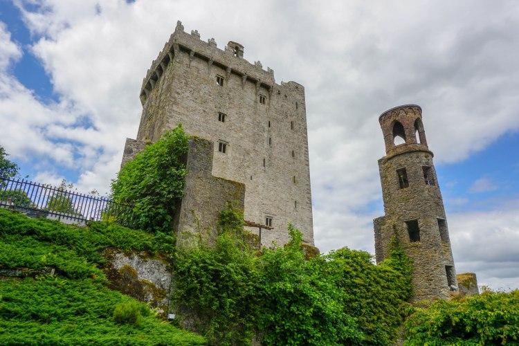 blarney castle tower seen from below