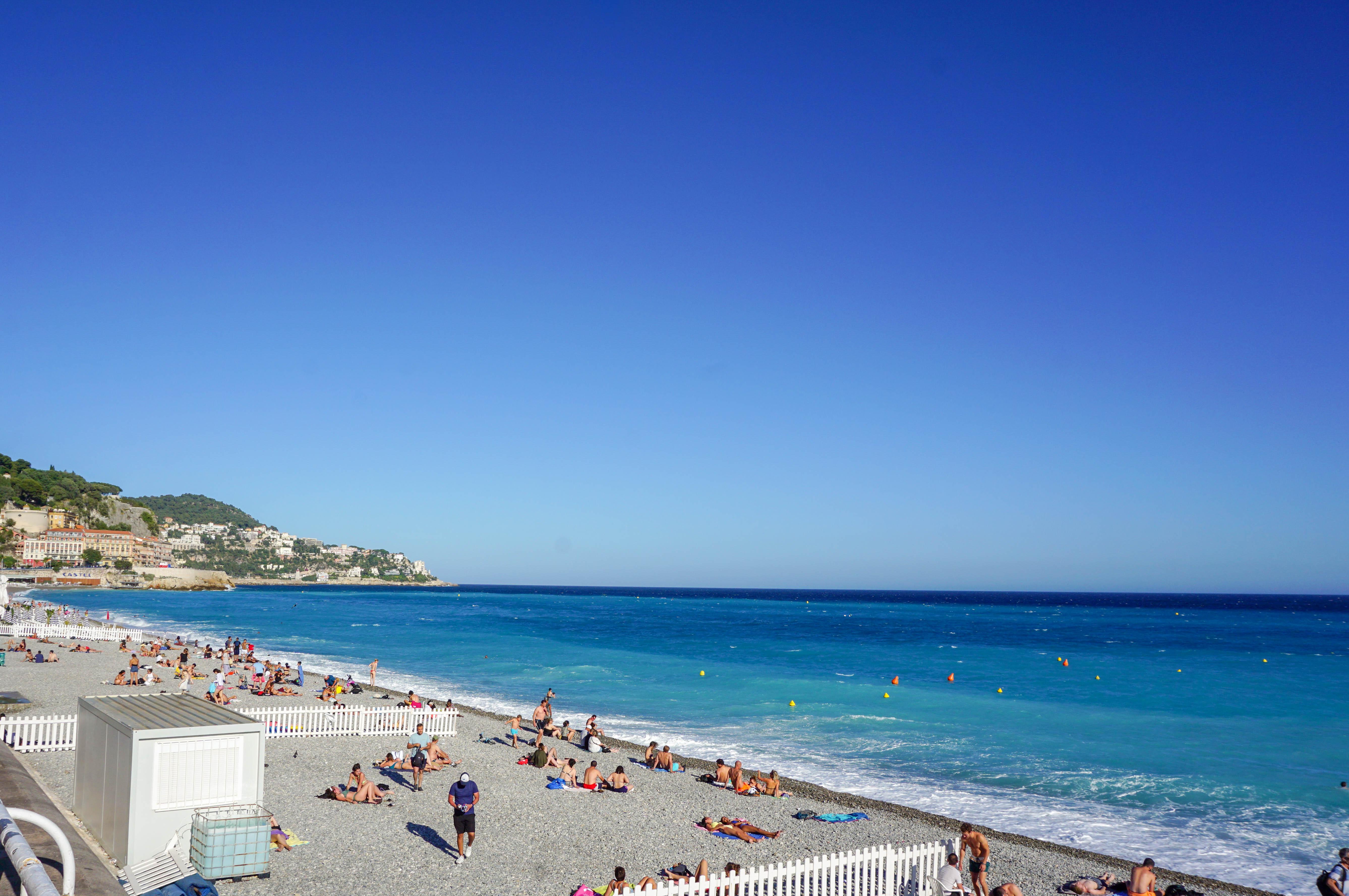 Blue sea, cote d'azur in Nice, France