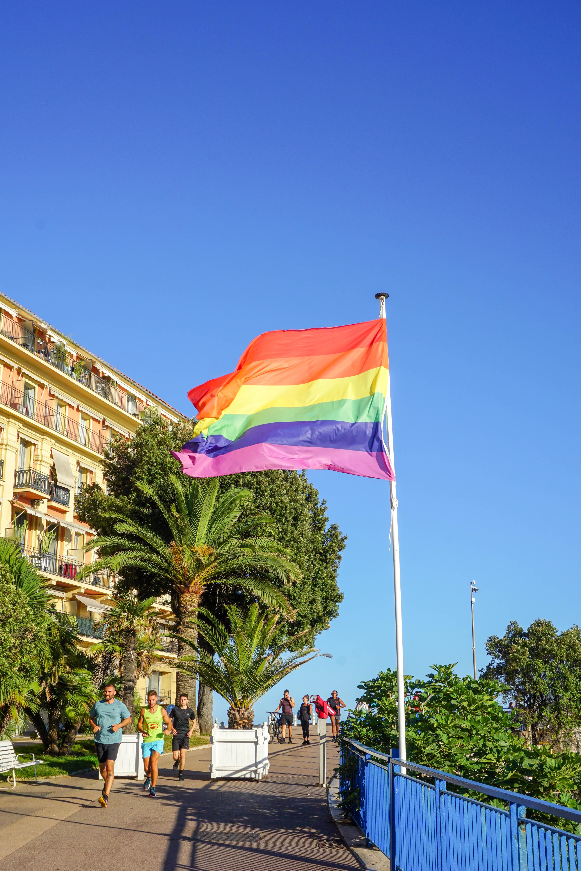 Pride flag in Nice, France